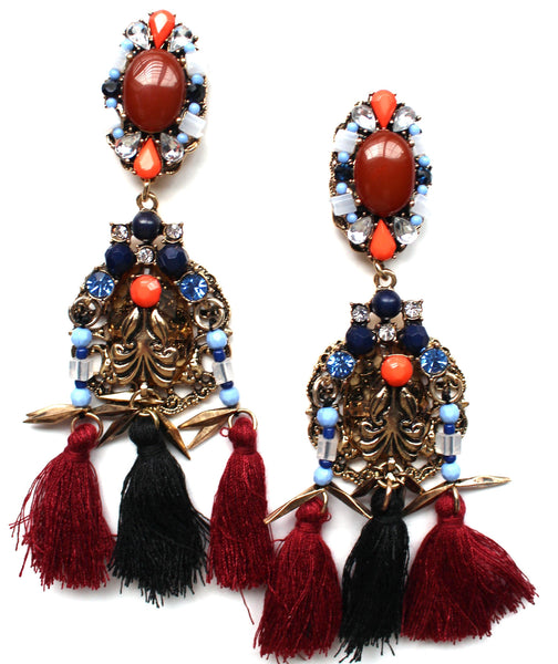 Warrior Princess Tassel Earrings