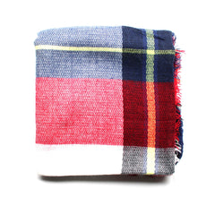 Mad For Plaid Blanket Scarf- Big Check Multi