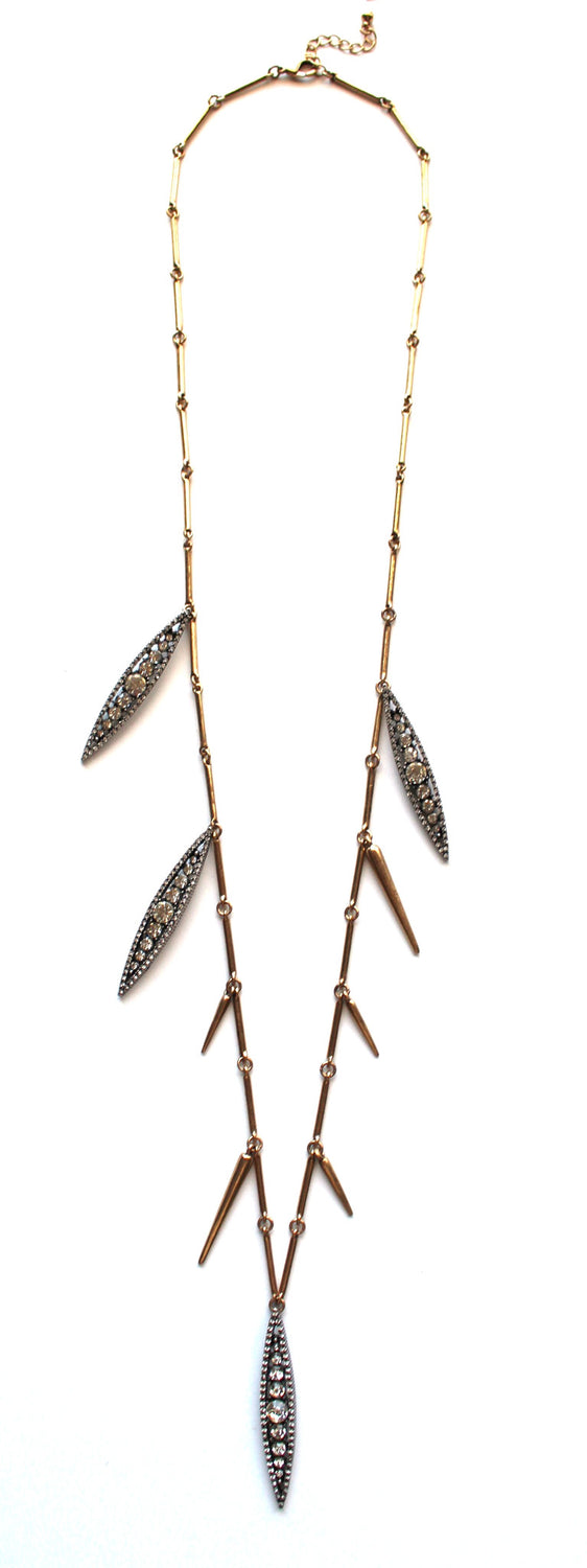 Spike & Stone Stopper Long Necklace