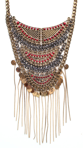 Boho Dreams Fringe Necklace