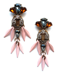 Pretty Pale Pink Statement Earrings