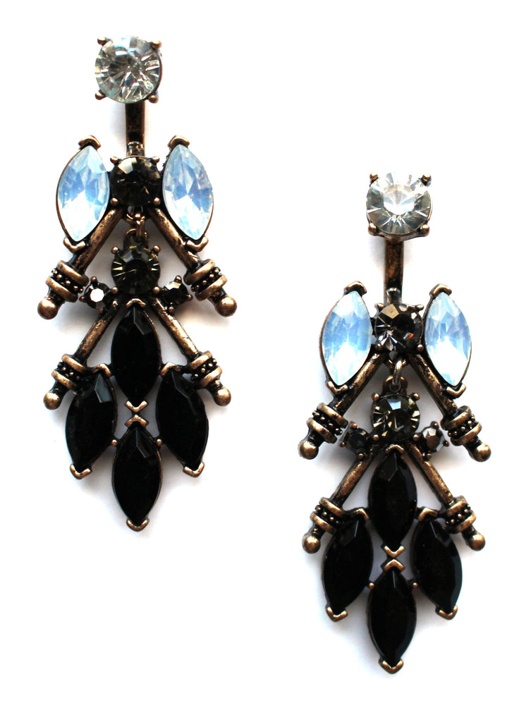 Crystal Edge Ear Jackets