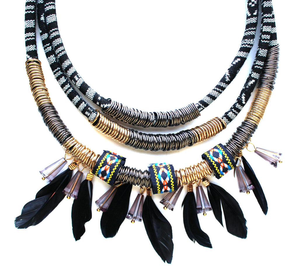 Indi Warrior Feather Necklace