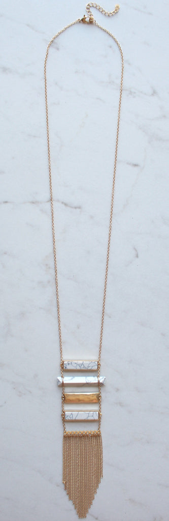 Climb The Marble Ladder Tassel Necklace