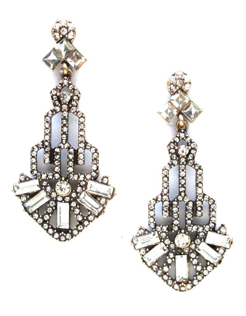 Gatsby Glass Earrings