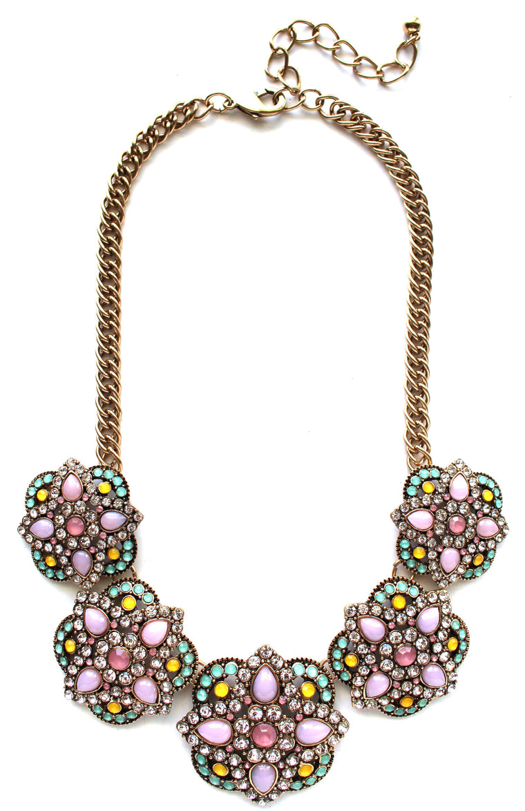 Cherished Pastel Treats Statement Necklace
