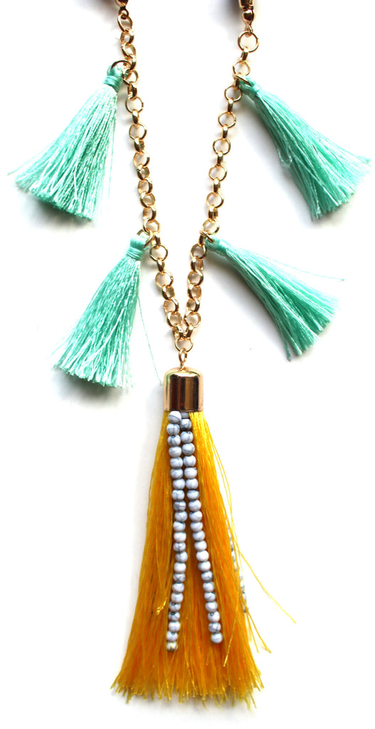 Sunny Playa Fringe Necklace