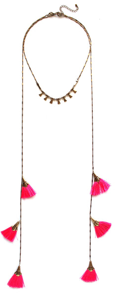 Pinky & The Fringe Layered Necklace