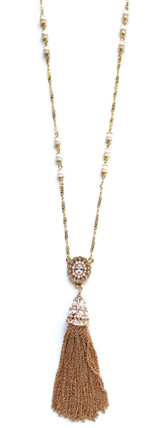 Romantic Rox Tassel Necklace