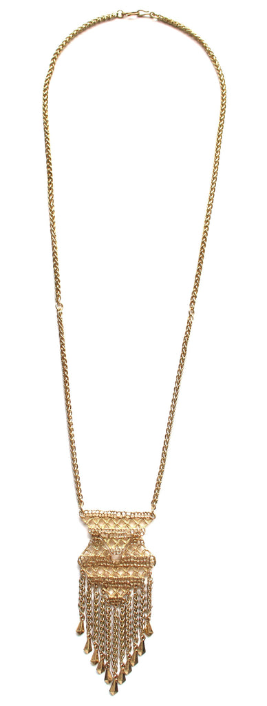 Golden Catcher Convertible Fringe Necklace
