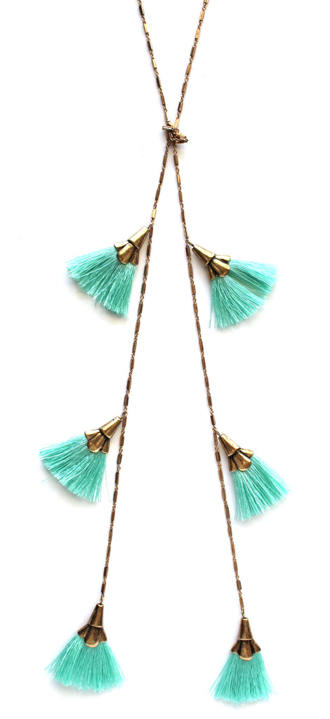 Minty & The Fringe Layered Necklace