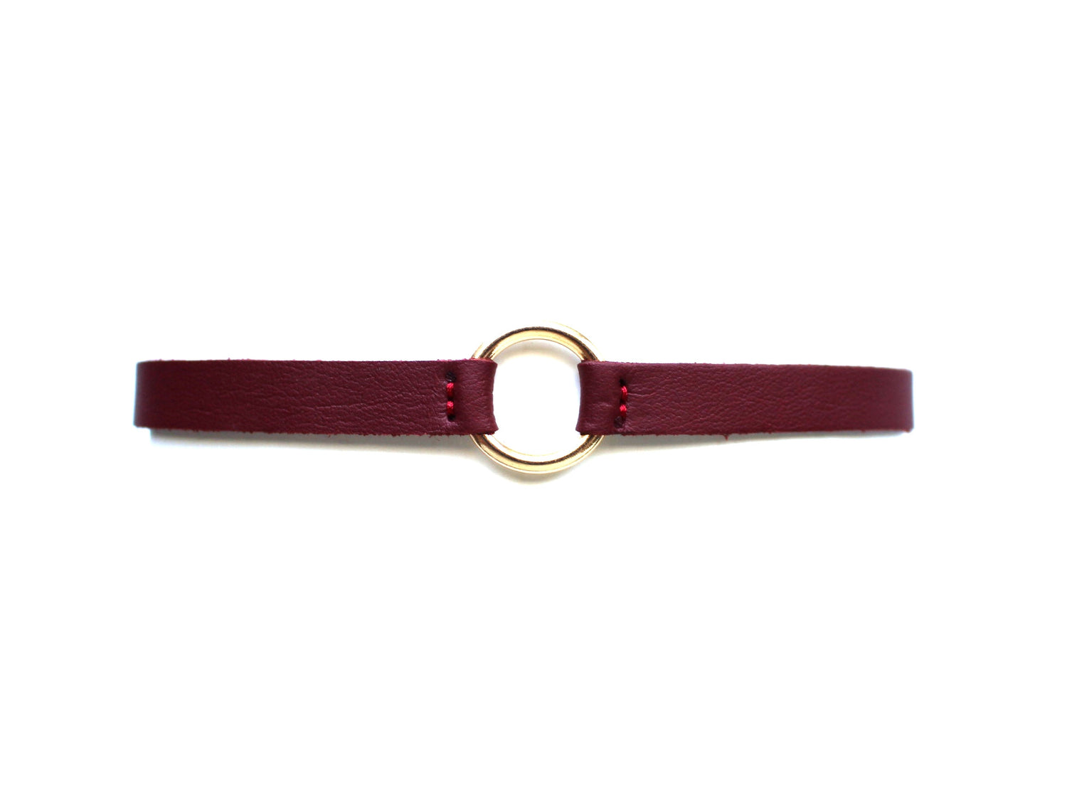 Ring Edge Choker Necklace- Red Wine
