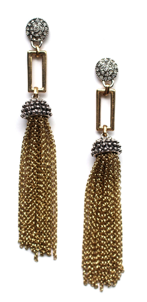 Embellished Chains & Fringe Earrings