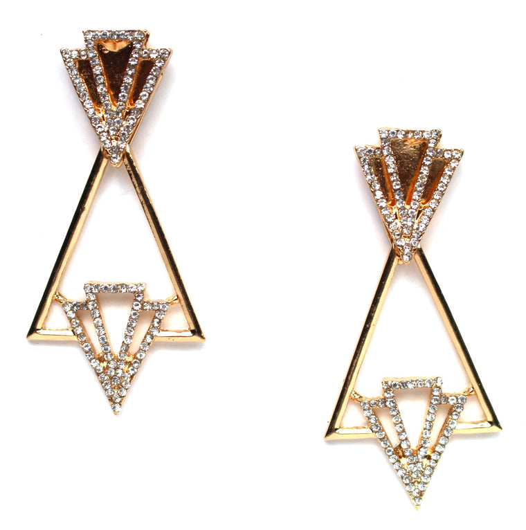 Deco Crystal Drop Earrings