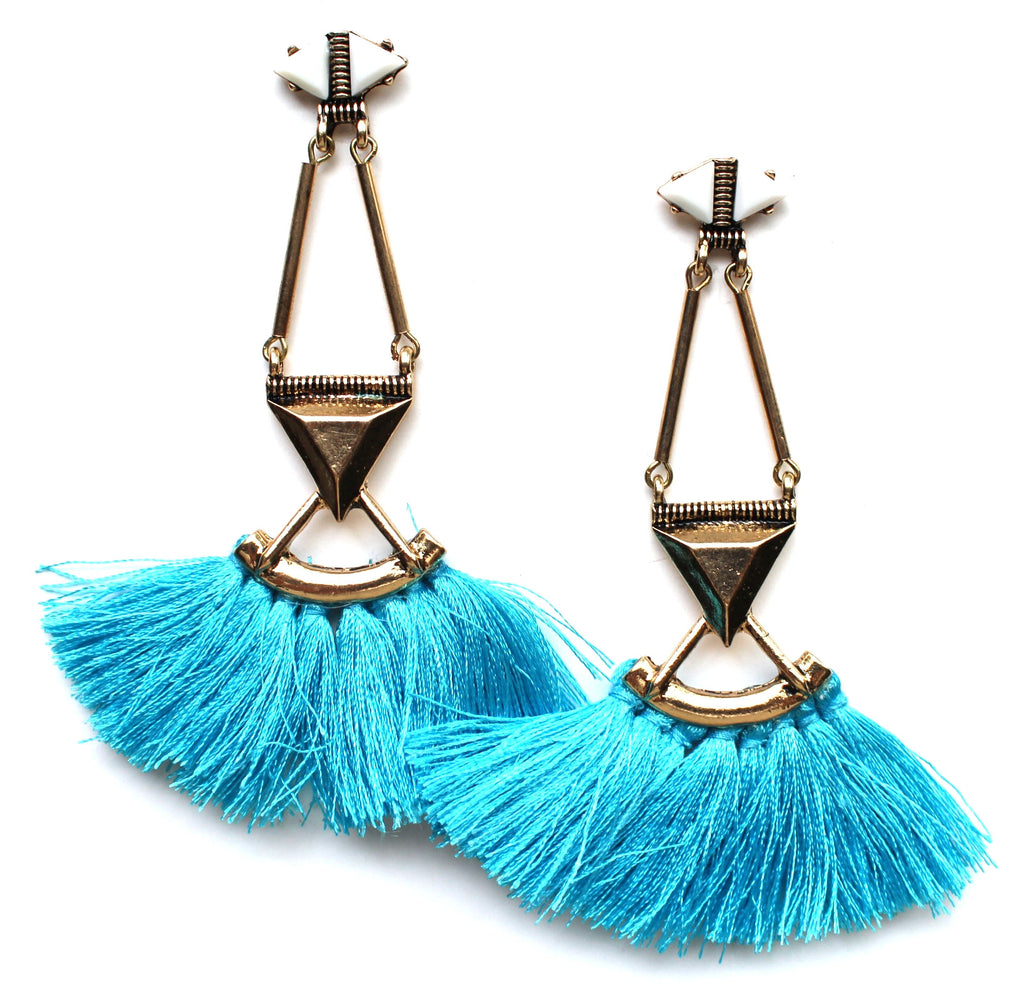 Native Azul Fringe Earrings