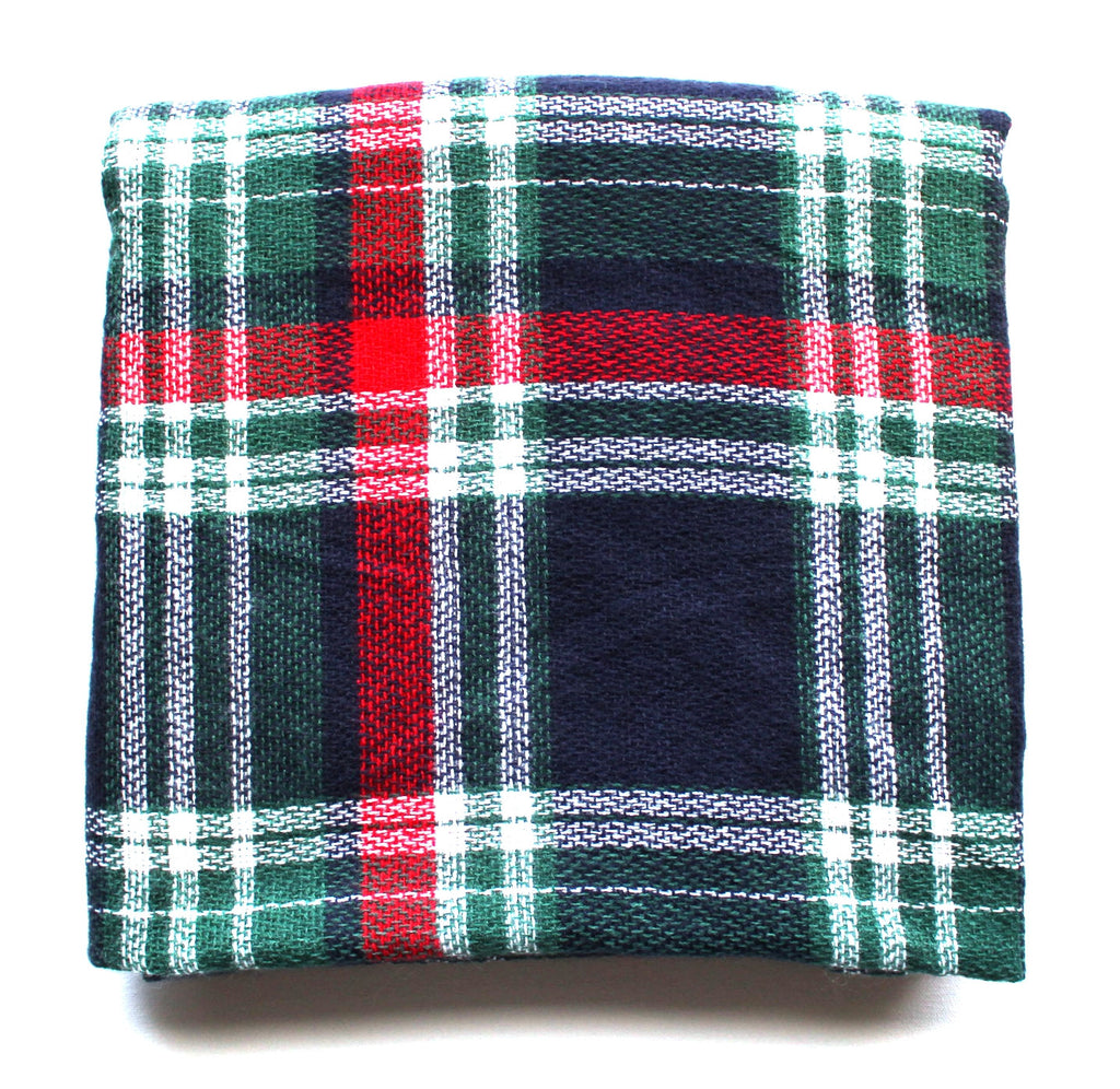 Mad For Plaid Blanket Scarf- Blue/Green Multi