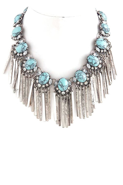 Boho Fringe Envy Statement Necklace