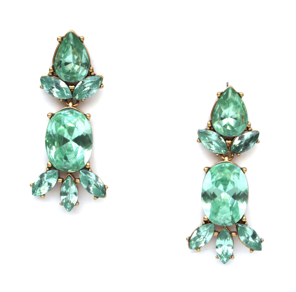 Dash Of Mint Statement Earrings