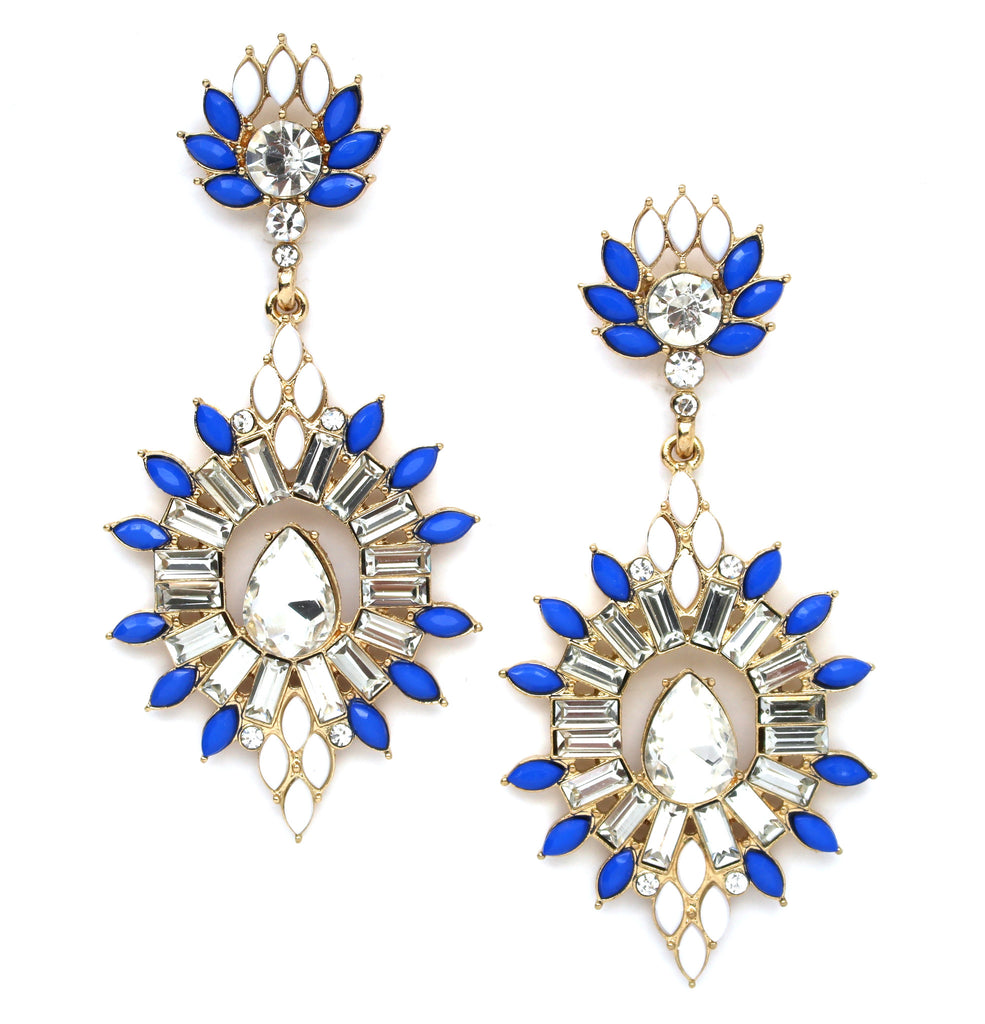 Royally Blooming Crystal Statement Earrings