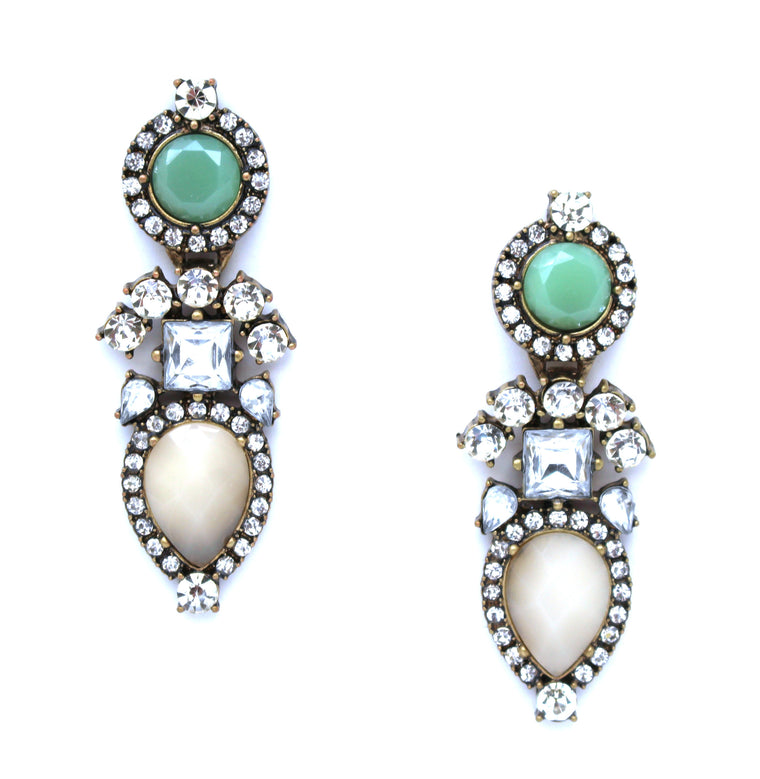 Luxe Color Stone Sparkle Earrings
