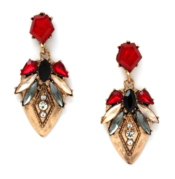 Romantic Ruby Petals Earrings
