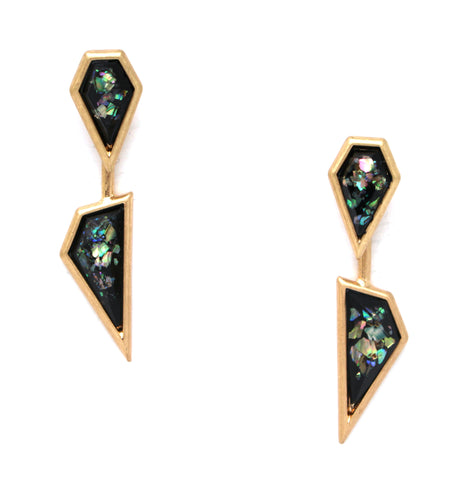 Midnight Illusions Ear Jacket Earrings