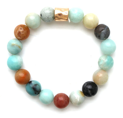 Beaded Stretch Bracelet- Multi