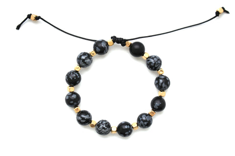 Beaded Thread Bracelet- Black