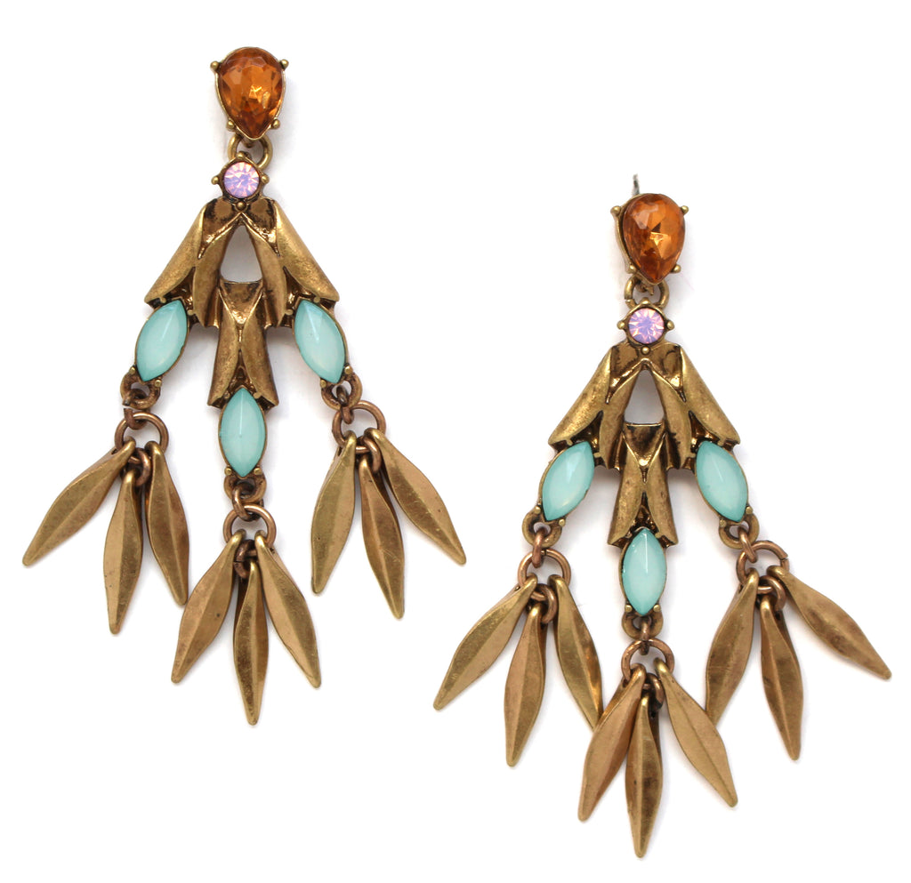 Kara Stone Fringe Earrings