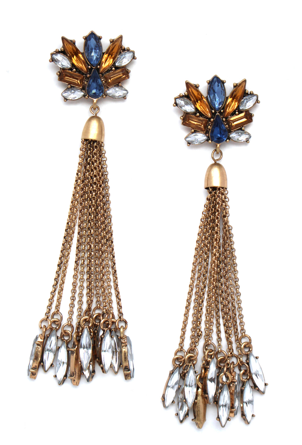 Golden Cabaret Tassel Earrings
