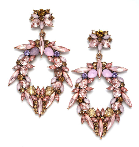 Blushing Fancy Dreams Statement Earrings