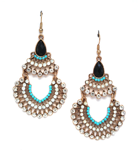 Ivanna Blues Statement Earrings