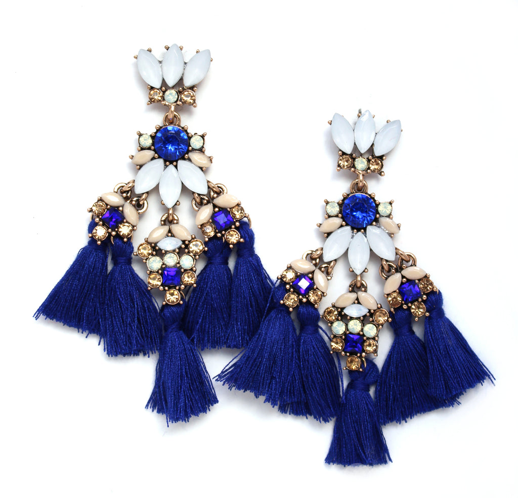 Sapphire Fantasy Statement Earrings