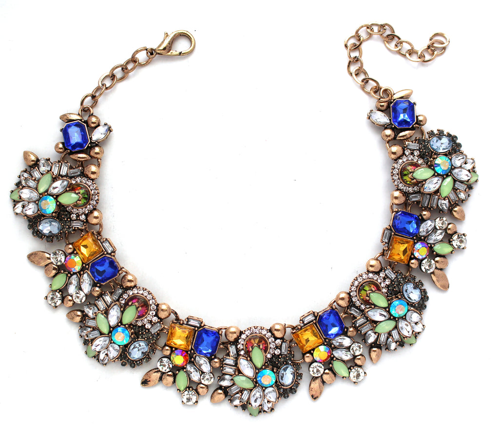 Paulina Bouquet Statement Choker Necklace- Multi
