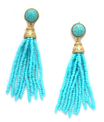 Pacific Blues Tassel Earrings
