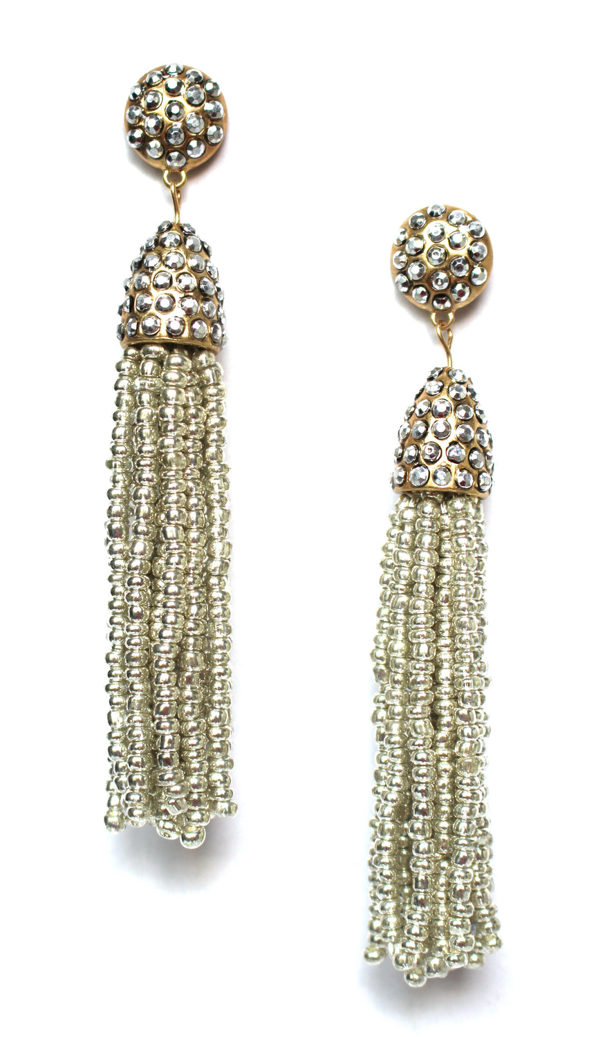 Victoria Joy Tassel Earrings- Silver
