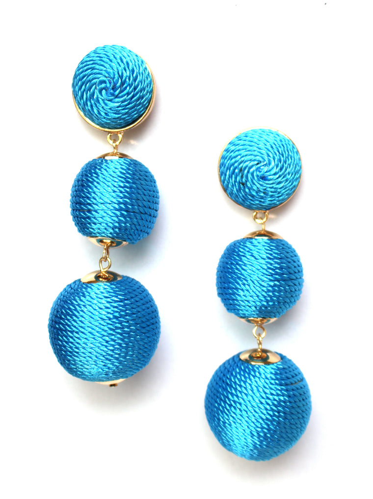 Shimmer Lee Drop Earrings- Turquoise