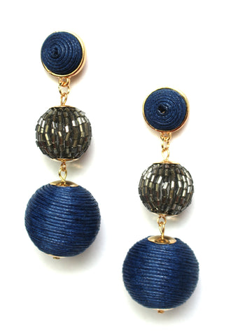Dazzling Azure Drop Earrings
