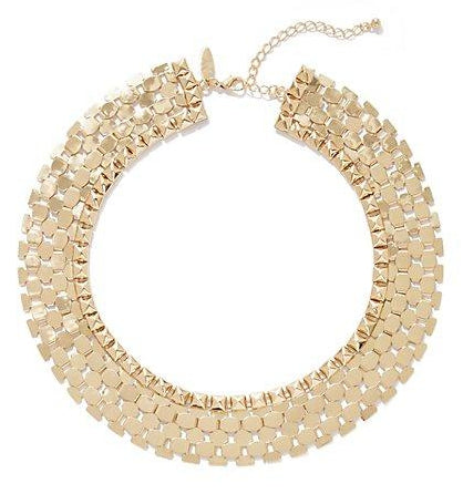 Chloe Shine Collar Necklace- Gold