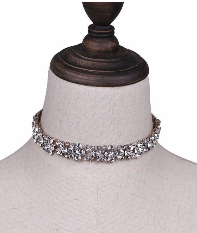 Blooming Crystal Garland Choker Necklace