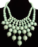 Bauble Bib Mini Necklace- Mint