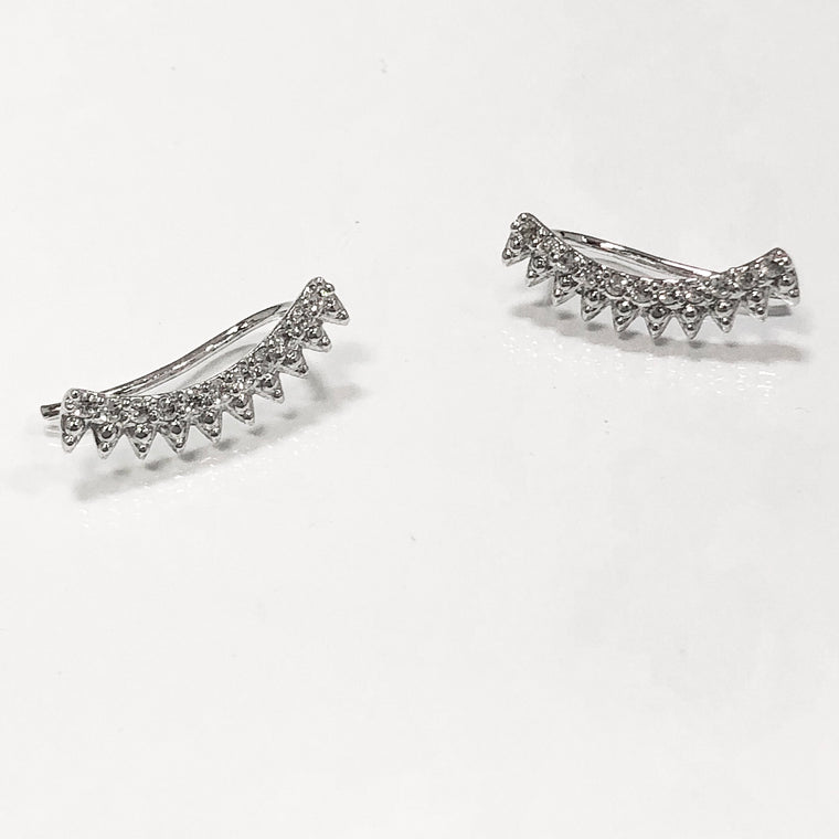 Susie Ear Crawler Earrings- Silver