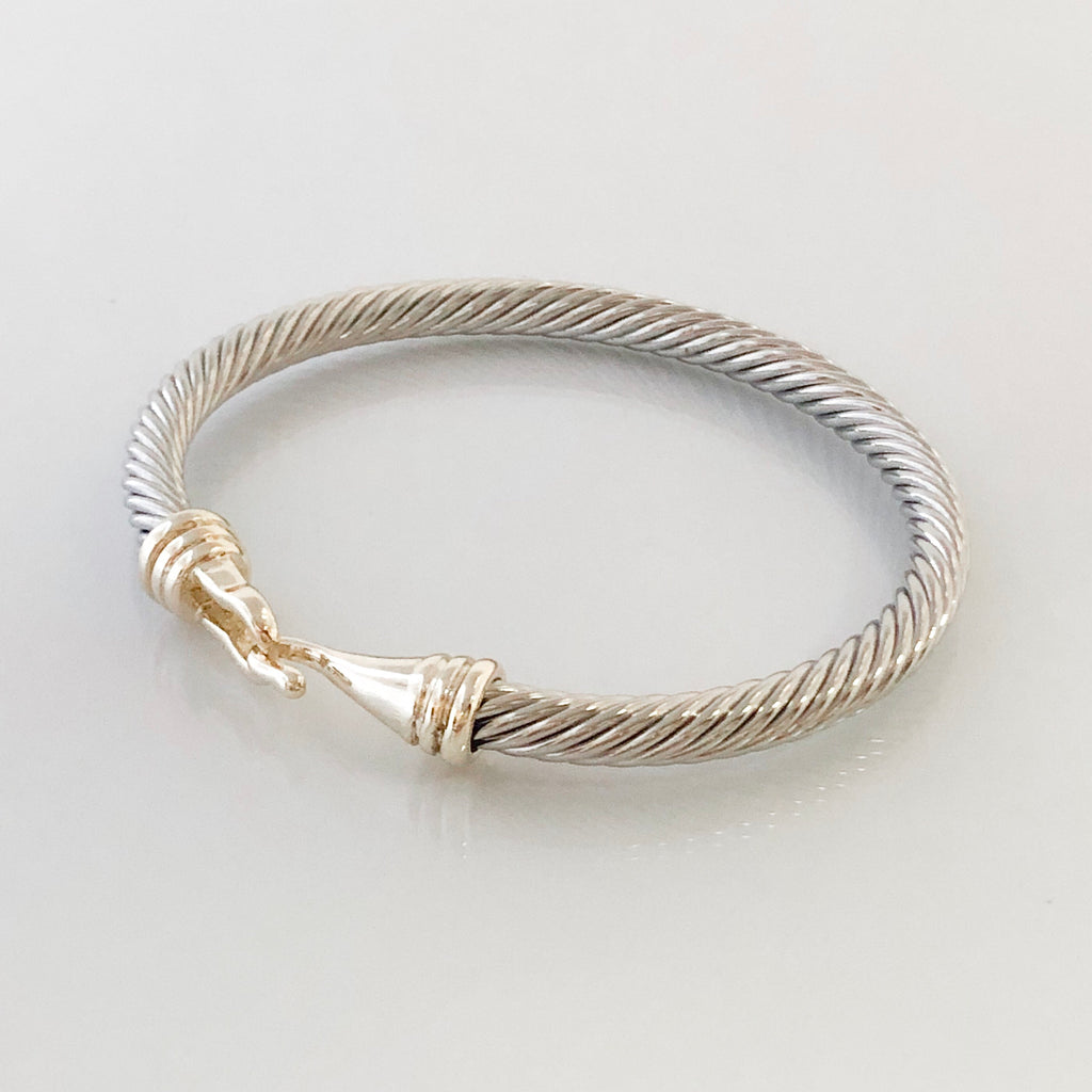 Stack It Up Bangle Bracelet- Hooked Cuff