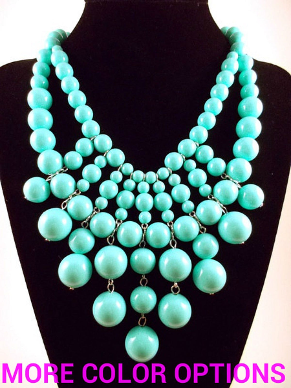 Bauble Bib Statement Necklace-2 BRAND NEW COLORS