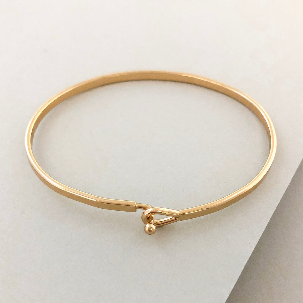 'Mind Over Matter' Dainty Bangle Bracelet-Gold