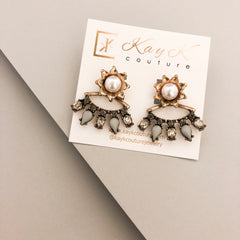 Lizandra Pearl Ear Jacket Earrings