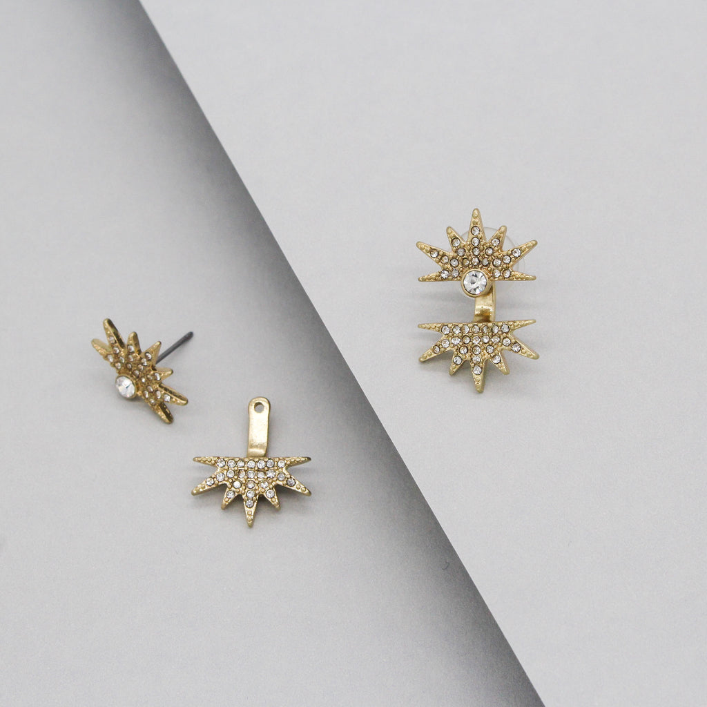 Star Studded Ear Jacket Earrings