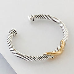 Stack It Up Bracelet Cuff- Criss-Cross