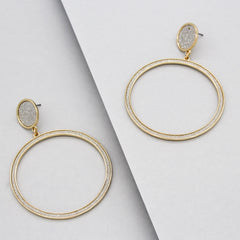 Gabrielle Shimmer Hoop Earrings