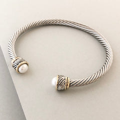 Stack It Up Bracelet Cuff- Pearl